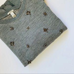 J. Crew ❤️ Rhinestone Sweatshirt ❤️ Size Medium